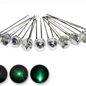 Dioda led straw hat 5mm zielona 1400 mcd 90-120st - wygląd