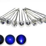 Dioda led straw hat 5mm niebieska 1400 mcd 90-120st