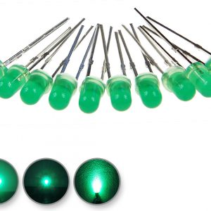 Dioda led 3mm zielona-szmaragd dyfuzyjna - wygląd