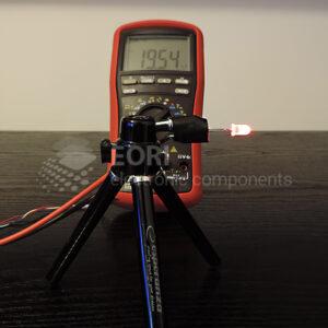 Dioda led 5mm czerwona dyfuzyjna - pomiar