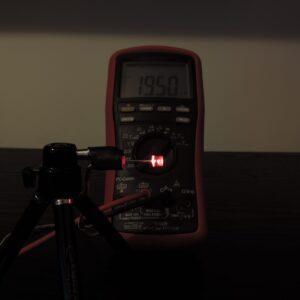 Dioda led płaska 5mm czerwona 3000 mcd 40-60st - pomiar