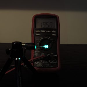 Dioda led płaska 5mm zielona szmaragd 4000 mcd 40-60st - pomiar