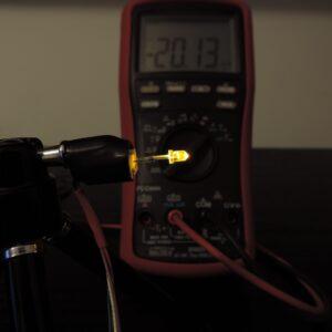 Dioda led 3mm żółta przeźroczysta - pomiary
