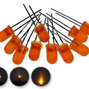 Dioda led 5mm pomarańczowa dyfuzyjna 3000 mcd 25-35st
