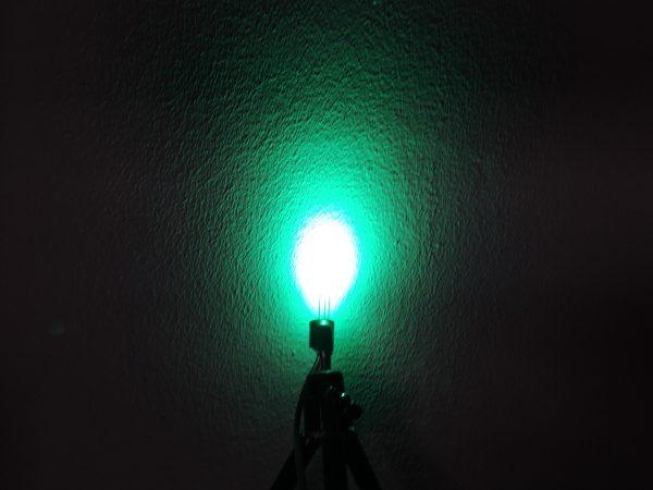 Dioda led 5mm dwukolorowa czerwono-zielona dyfuzyjna - zieleń