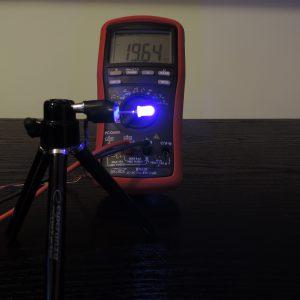 Dioda led 5mm niebieska dyfuzyjna - pomiary