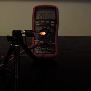 Dioda led 5mm pomarańczowa dyfuzyjna - pomiary