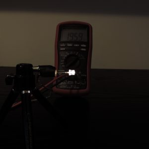 Dioda led płaska 5mm biała ciepła - pomiary
